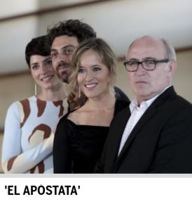 Maquillaje a Marta Larralde para presentacion El apostata